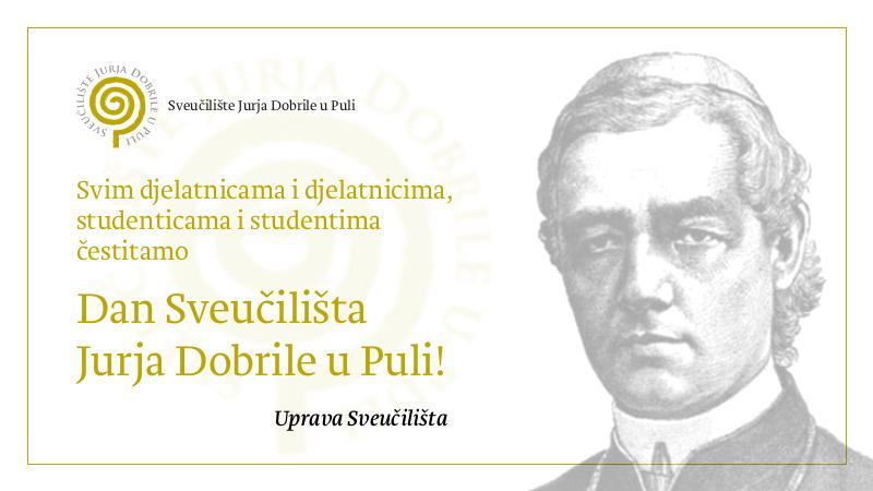 Čestitamo Dan Sveučilišta Jurja...